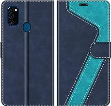 MOBESV Custodia Samsung Galaxy M30s, Cover a Libro Samsung Galaxy M30s, Custodia in Pelle Samsung Galaxy M30s Magnetica Cover per Samsung Galaxy M30s, Elegante Blu
