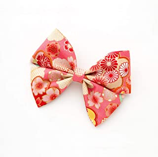 [ミッシュキッシュ]髪飾り リボン ヘアクリップ 和柄の蝶々リボンクリップ 07781