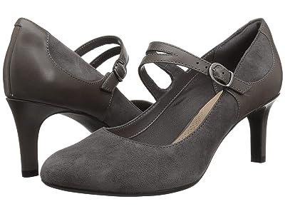Clarks Dancer Reece (Grey Suede/Leather Combination) Women