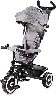 comprar comparacion Kinderkraft Triciclo Evolutivo ASTON, Plegable, Cinturón, 9 Meses a 5 Años, Gris