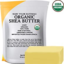 Organic Shea butter (1 lb) USDA Certified, Raw, Unrefined, Ivory From Ghana Africa, Amazing Skin Nourishment, Great for Eczema, Stretch Marks and Body by Mary Tylor Naturals