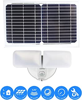 solar powered twin security lights