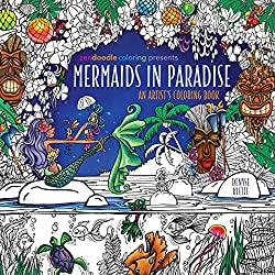 mermaids in paradise coloring book