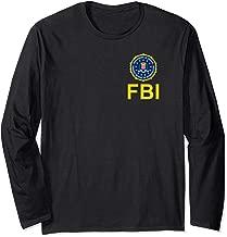 FBI Shirt, Double Sided FBI Federal Agent Chest Seal Logo Long Sleeve T-Shirt