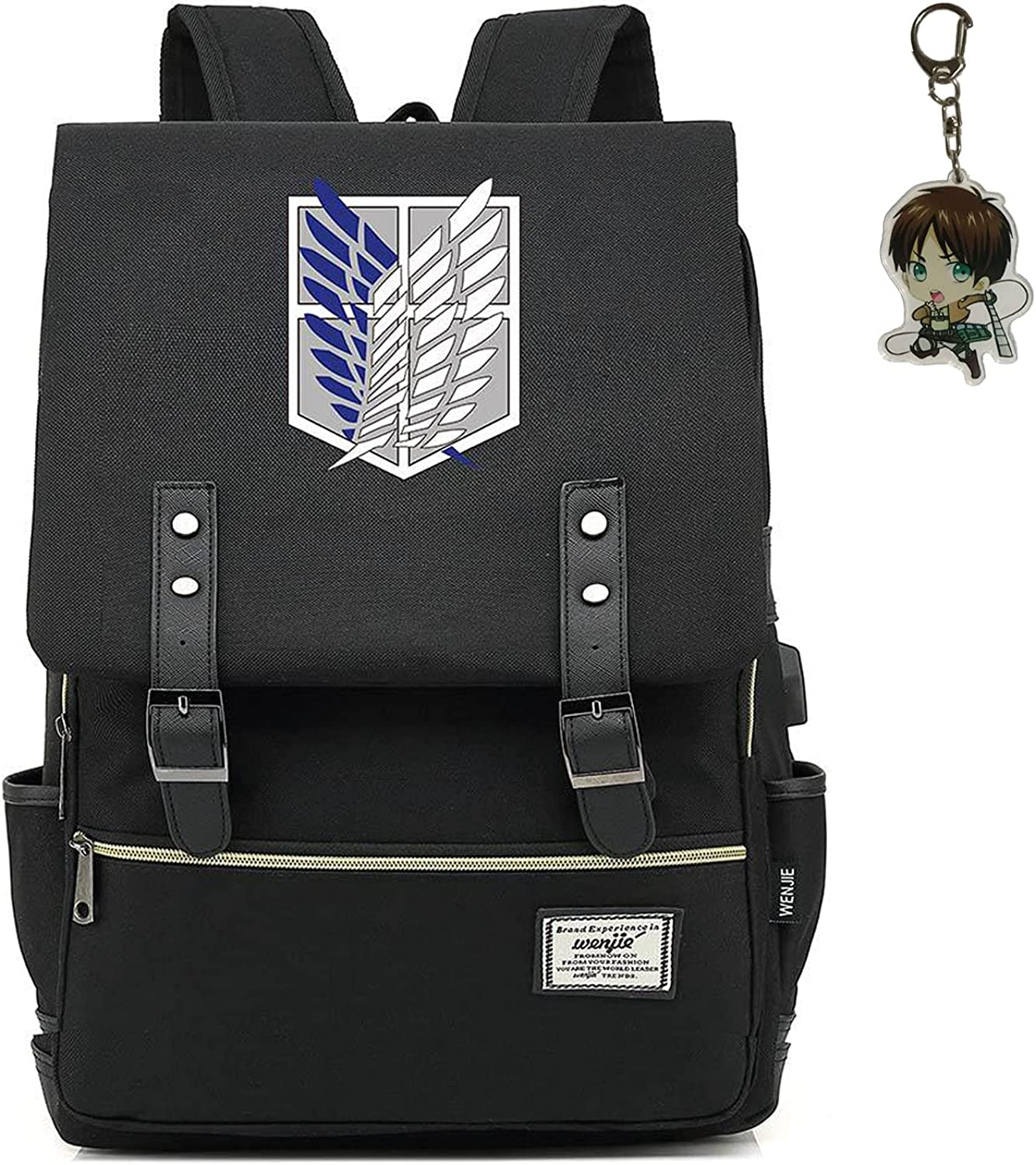 Memory Max 81% OFF meteor Attack on Titan Backpack Survey Eren Fashionable Corps S Anime