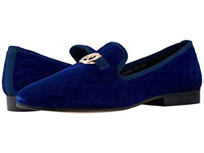 Stacy Adams Valet Velour Slip-On Loafer (Dark Blue) Men