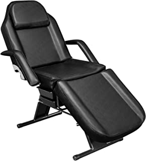 OmySalon Adjustable Massage Salon Tattoo Table Bed Chair, Professional Facial Spa Beauty Barber Waxing Equipment with Beau...