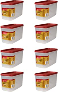 Rubbermaid - Dry Food Storage 5 Cup Clear Base w/Graduation Marks, Red Lid