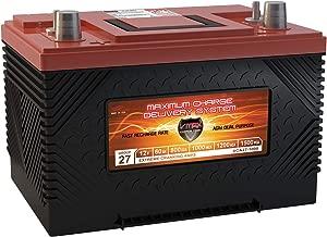 VMAX XCA27-1000 12V 1000MCA AGM Deep Cycle Group 27 SLA Marine Starting Battery