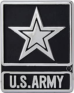 U.S. Army Silver Star Logo Chrome Auto Emblem
