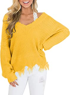 Mintsnow Sweaters for Women Oversized Long Sleeve Knit Pullover Jumper Tops