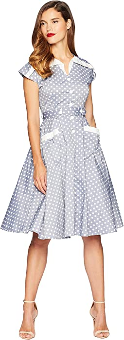 1950s Cap Sleeve Hedda Swing Dress