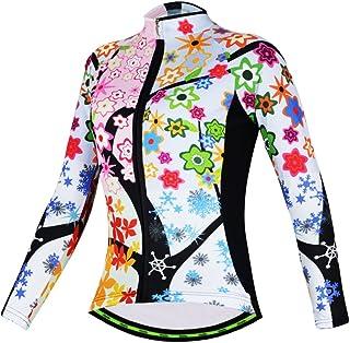 Mujer Ciclismo Maillots manga larga camisas aogda Ladies 2017equipo ciclismo chamarra de ropa
