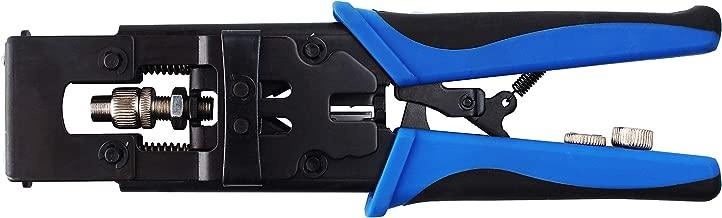 Coax Cable Crimper,Knoweasy 3 in 1 Coax Compression Crimp Tool for BNC RCA,RG58 RG59 RG6,Universal Wire Cutter&Coax Cable Tools