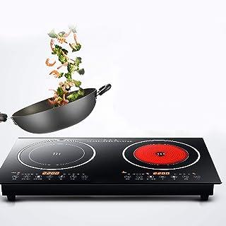 Plaque de cuisson à induction 220 V, double plaque à induction, plaque de cuisson électrique, portable à induction et doub...