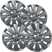 17 inch Hubcaps Best for 2011-2014 Chysler 200 - (Set of 4) Wheel Covers 17in Hub Caps SIlver Rim Cover - Car Accessories for 17 inch Wheels - Snap On Hubcap, Auto Tire Replacement Exterior Cap)