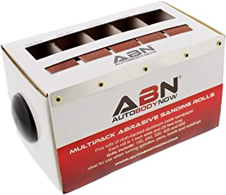 ABN Abrasive Paper 5pc Sand Paper Variety Pack with Dispenser – 150, 240, 320, 400, 600 Grit Aluminum Oxide Sandpaper