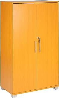 Armario archivador para oficinas, con cerradura, 3 estantes de almacenamiento, de 2 puertas, 700 mm de ancho, gran capacidad de almacenamiento