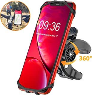 Bike Phone Mount, STOON 360° Rotatable Bicycle Phone Holder with Adjustable Handlebar Mount, Silicone Universal Motorcycle Phone Mount Fits iPhone 11/XR/XS Max/X, 8/8 Plus, Galaxy S10 Plus/S10/S10e