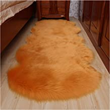 Soft Faux Fur Rug, Shaggy Couch Cover Seat Cushion Bedroom Cover Mattress Door Window Bay Mat, for Living Room Bedroom Sof...
