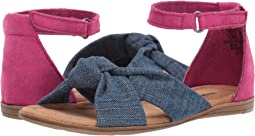 Blue Denim/Hot Pink Microsuede
