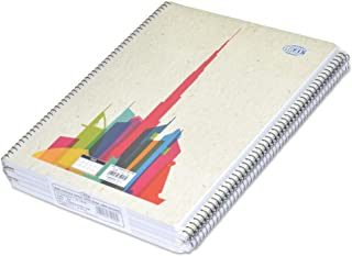 5-Piece FIS Burj Khalifa Spiral Note Book, 5mm Square, (70 Sheets), 70 GSM, A4 Size - FSNBA419015M