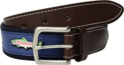 Placed Trout Canvas Club Belt