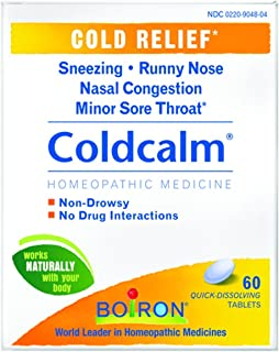 Boiron Coldcalm Homeopathic Medicine for Cold Relief,60 Count