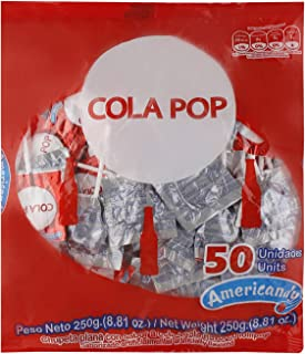 Americandy Cola Pop Candy, 250 gm