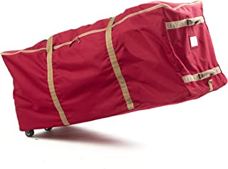 Covermates – Holiday Rolling Tree Storage Bag – Fits 9 to 11 Foot Tree – 3 Year Warranty - Red