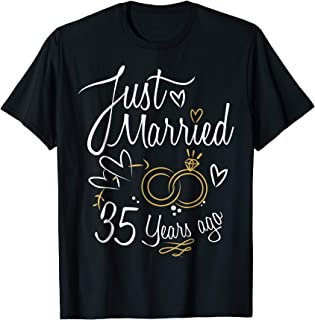 35 Years Marriage Gift Idea - 35th Year Anniversary T-Shirt