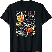 Aperol Spritz Recipe Cocktail Tshirt Perfect Drinking Gift T-Shirt