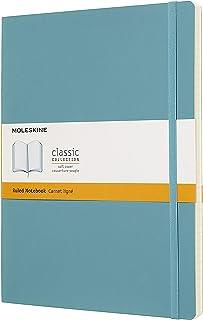 Caderno Clássico, Moleskine, Pautado, Azul Coral, Extra Grande