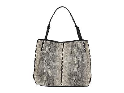 M&F Western Python Tote (Grey/Black Python Print) Handbags