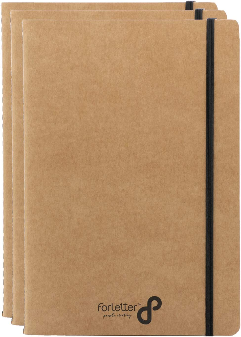 Set of 3 OFFicial Max 57% OFF mail order Notebooks Kraft