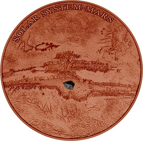 nuevo estilo Power Coin Mars NWA 7397 Meteorite Marte Solar System System System 1 Oz Moneda plata 1  Niue 2017  autentico en linea