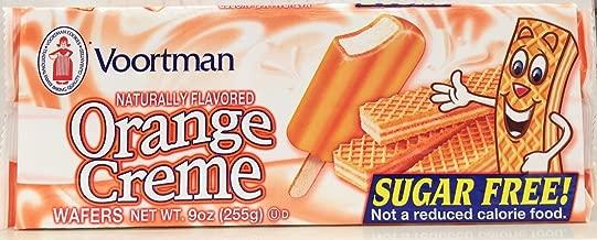 Voortman Sugar Free Orange Creme Wafers Cookies 9 Oz (Pack of 6)