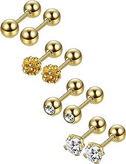 Best gold stud sleeper earrings Reviews