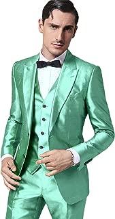 Men Suits Slim Fit Skinny Tuxedo Custom Stage Performance Prom Blazer 3 Pieces