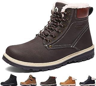 Sixspace Chaussures d'hiver chaudes pour homme et femme Chaussures d'hiver imperméables antidérapantes Chaussures de rando...