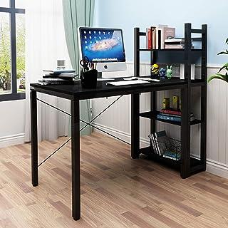 soges Table de Travail, Bureau, Ordinateur, en métal et pâte de Bois E1, avec étagère pour Livres, documentation sur Les P...