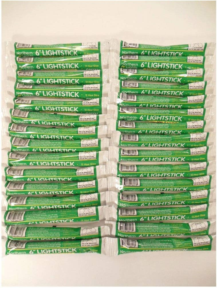 Lot of 100 Emergency Light Sticks 12 Disaster Hour Direct stock discount Green OFFicial Survi