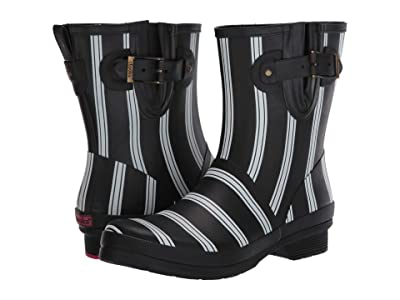 Chooka Smart Stripes Mid Boot (Black) Women