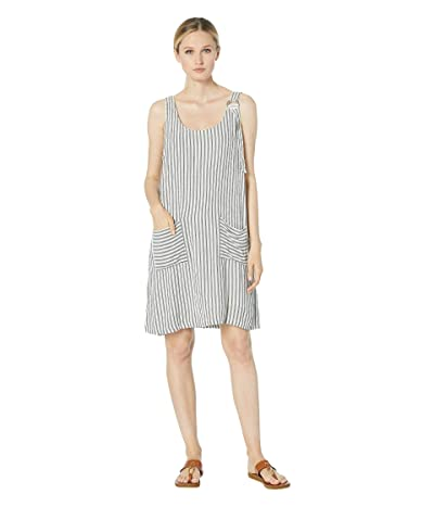 Mod-o-doc Cabana Stripe Patch Pocket Overall Dress (Black) Women