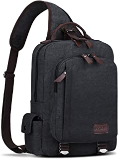 S-ZONE Sling Bag Men Chest Shoulder Backpack Sack Satchel Outdoor Crossbody Pack