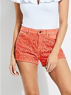 GUESS Women's Claudia High-Rise Denim Shorts