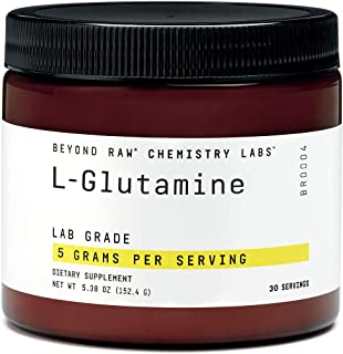 Beyond Raw Chemistry Labs L-Glutamine, 30 Servings, Supports Muscle Function