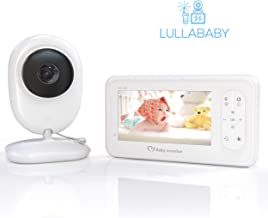 Video Baby Monitor with HD Camera 1080P, 4.3'' LCD Screen and Audio by Lullababy | Keep Babies Safe with Night Vision, Talk Back, Room Temperature, Lullabies 960ft Range and Long Battery Life