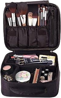 EFAILY Travel Makeup Train Case,Premium Cosmetic Organizer Bag for Makeup Brushes Portable Makeup Bag for Girl and Women