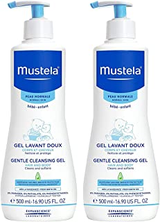 Mustela Gentle Cleansing Gel, Baby Hair and Body Wash, Tear-Free, with Natural Avocado Perseose Fortified with Vitamin B5,...